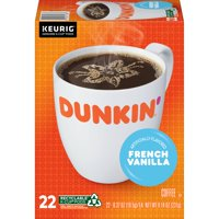 Dunkin' French Vanilla Flavored K-Cup Pods, 22-Count (Packaging May Vary)