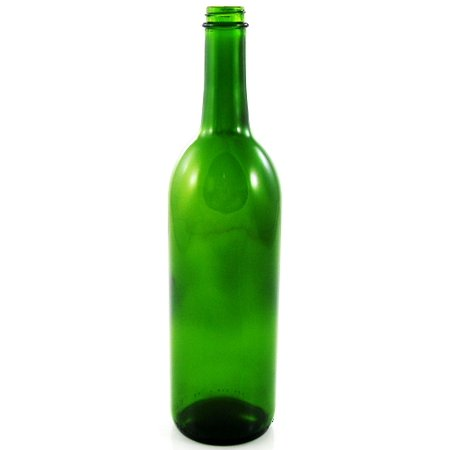 750 ML Green Screw Top Bordeaux Wine Bottle (single)](Mini Wine Bottle)