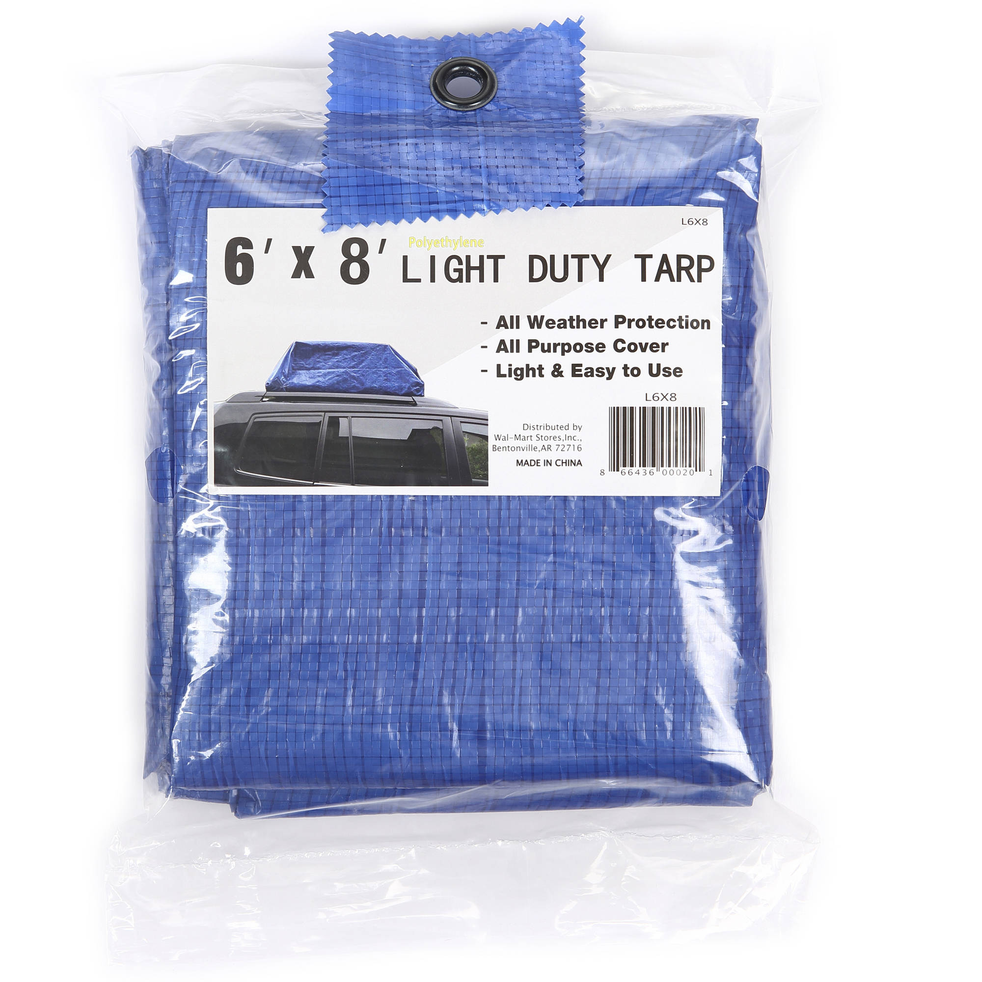 Hyper Tough 6' x 8' Light Duty Tarp All Weather Protection All Purpose Cover