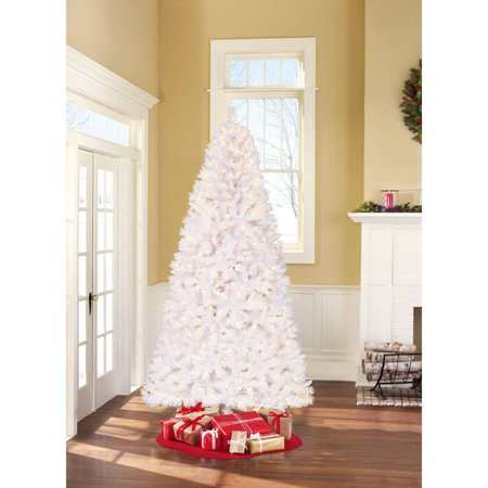 holiday time pre lit 75 berkshire pine white artificial christmas tree color changing - Color Changing Christmas Tree Lights