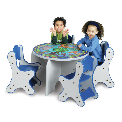 Playscapes Animal Families Kids 5 Piece Table and Chair Set