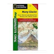 National Geographic Maps TI00000314 Many Glacier-Glacier National Park by National Geographic