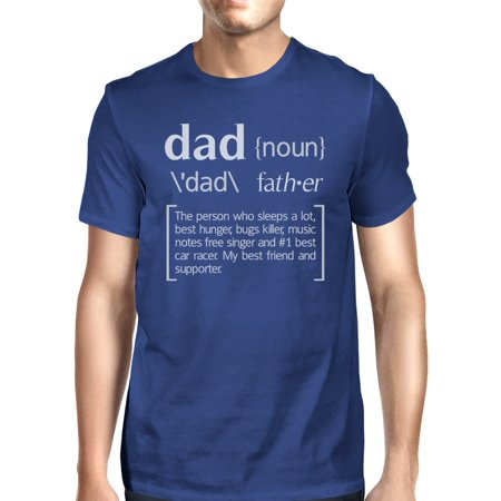 Dad Noun Mens Blue Funny Graphic T-Shirt Funny Gift Ideas For Dad - Father Daughter Halloween Ideas