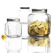 Anchor Hocking 3-Piece Cracker Jar Glass Canister Set