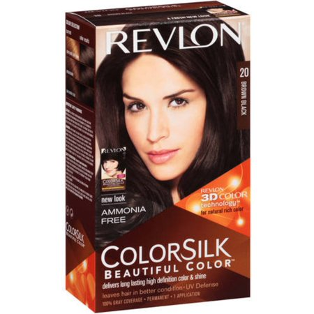 Revlon ColorSilk Hair Color, 20 Brown Black 1 ea (Pack of