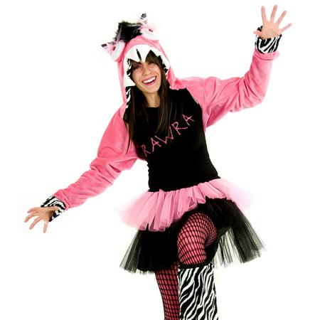 Princess Paradise Adult Hot Pink Zebra Rawra Monster Outfit Womens Halloween Costume - Hot Princess Costumes