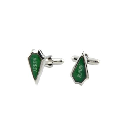 Green Arrow Fashion Novelty Cuff Links Movie Comic Series with Gift Box Light Fashion Link
