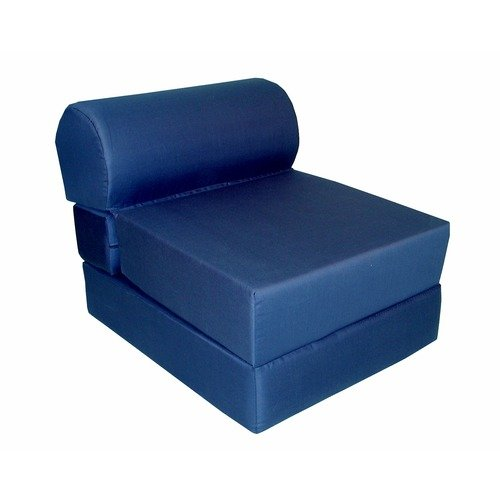 Elite Products Navy Jr. Twin Foam Sleeper Chair (Poly-Cotton)