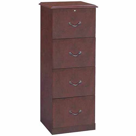 4-Drawer Traditional Vertical File, Cherry