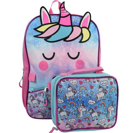 Backpack - Unicorn - Rainbow w/Lunch Bag New 99CFLS8UP - image 1 of 1