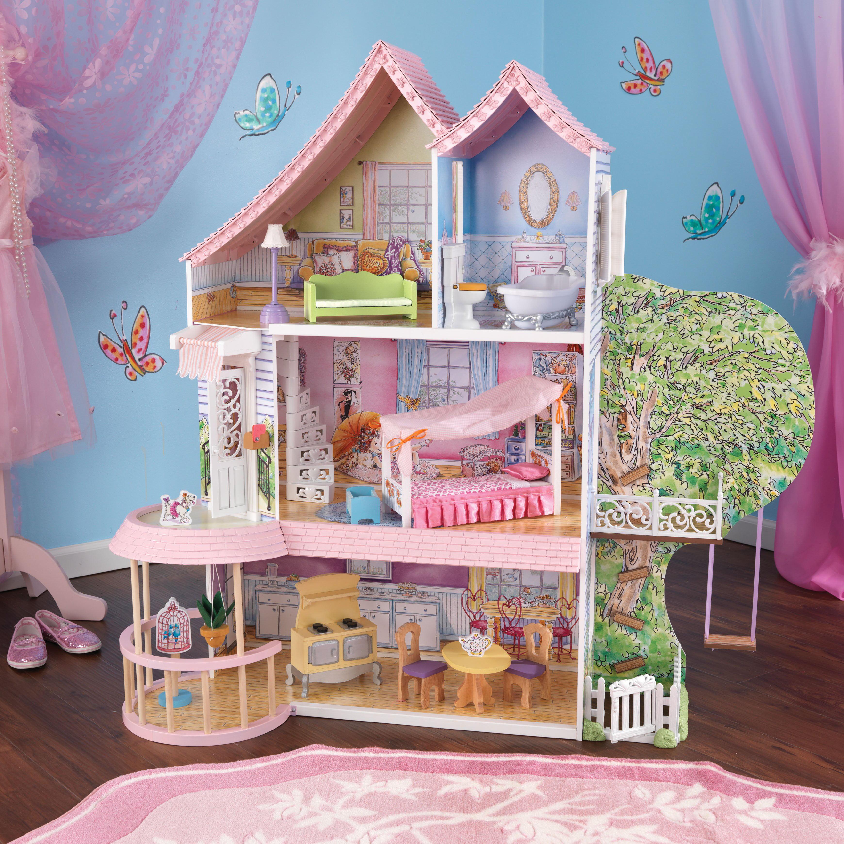 Kid Kraft Fancy Nancy™ Children Dollhouse with 14 Accesso...