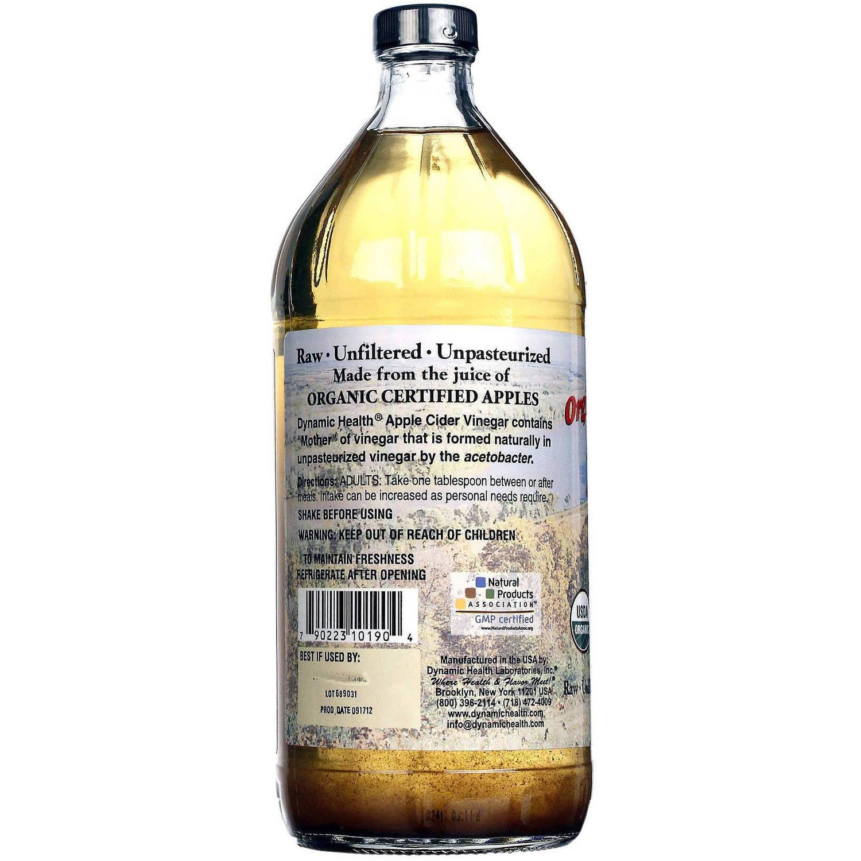 Dynamic Health Apple Cider Vinegar Organic with Mother, 32 OZ by Dynamic Health