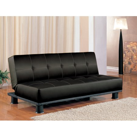 Simple Relax 1perfectchoice Contemporary Living Room Adjule Sleeper Sofa Bed Futon Black Faux Leather