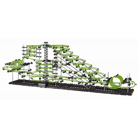 SpaceRail Level 6 31000mm Glow in The Dark Marble Run Fun DIY Building Set (Glow In The Dark Marbles)