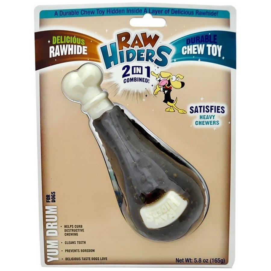 Rawhiders Chicken Leg Rawhide Dog Toy