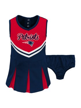 960cc0f146db Product Image Toddler Red Navy New England Patriots Cheerleader Dress    Bloomers Set