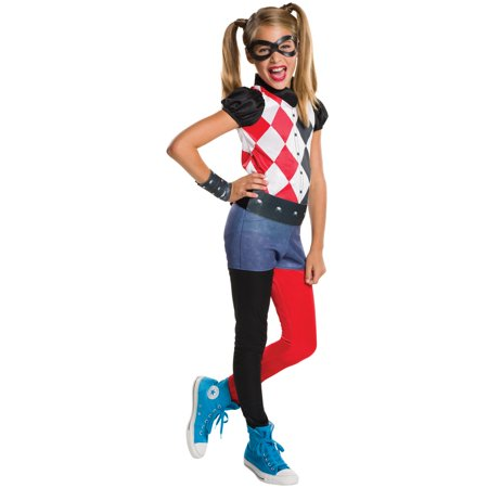 DC Superhero Girls Harley Quinn Costume (Haunted School Girl Costume)