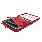Travelway 3 Ring 1.5 inch Binder with Zipper in Red
