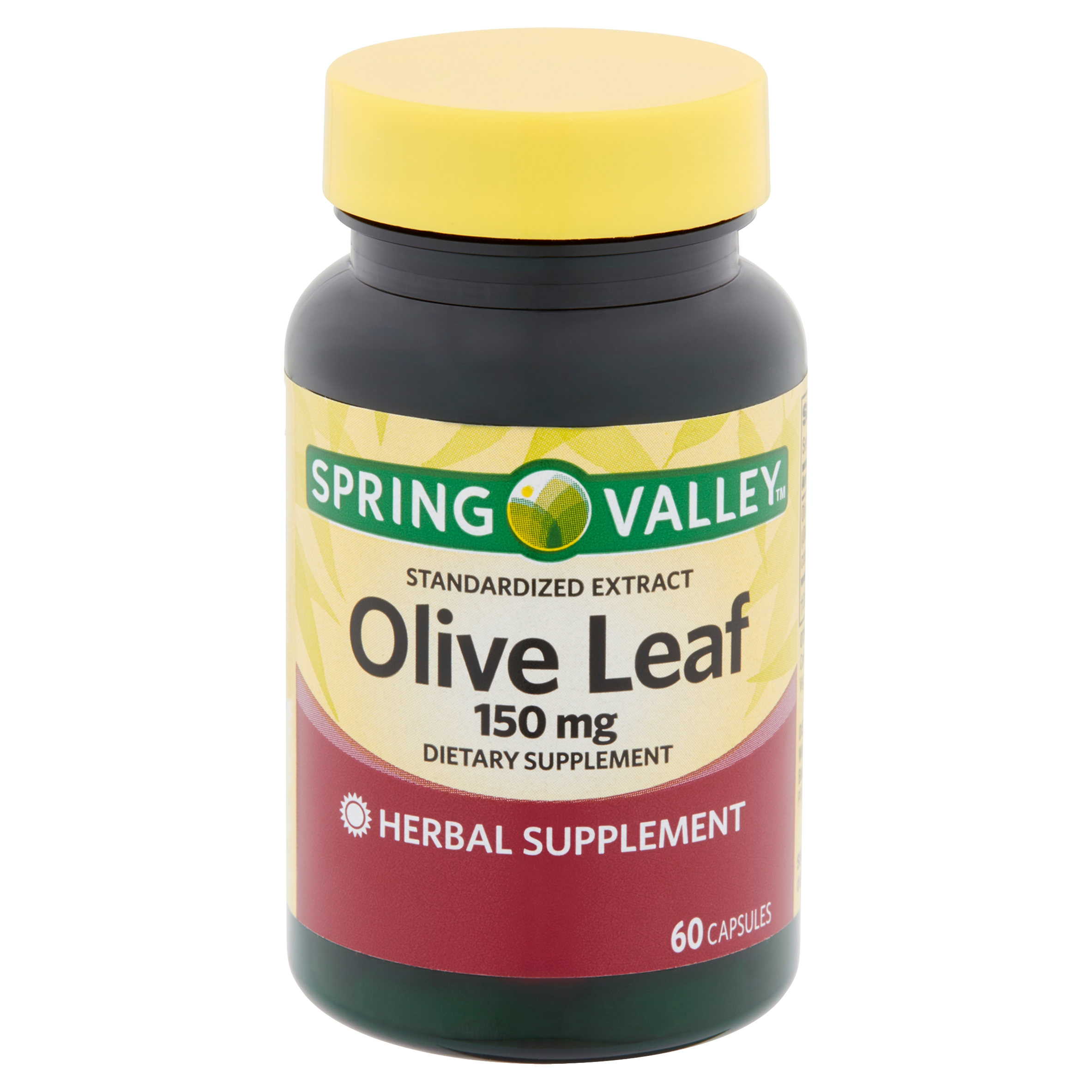 Spring Valley Standardized Extract Olive Leaf Capsules, 150 mg, 60 count