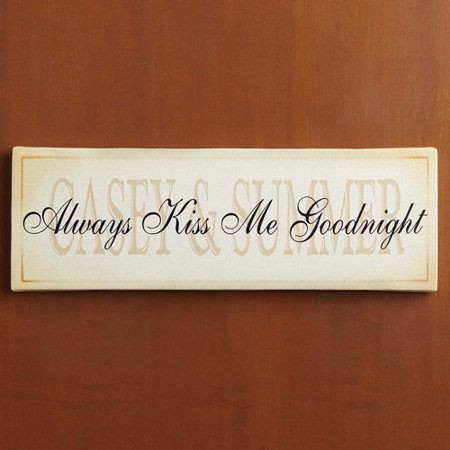 personalized always kiss me goodnight canvas wall decor - Personalized Wall Decor
