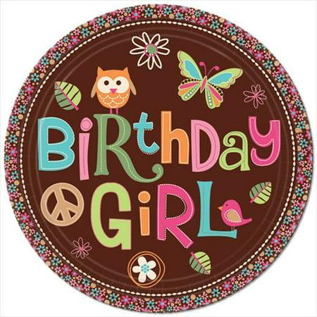 Hippie Chick Birthday Supplies (Hippie Chick Large Paper Plates)