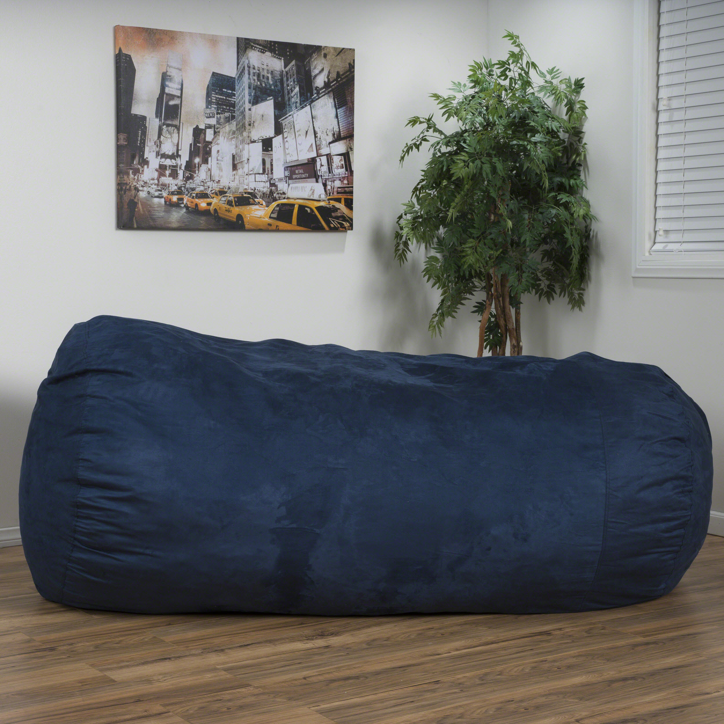 592003758de5 Noble House Logan Faux Suede 8-foot Lounger Bean Bag, Multiple Colors