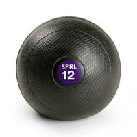 SPRI 12lb Slam Ball, Purple/Black, Pms 269C 20C Diameter