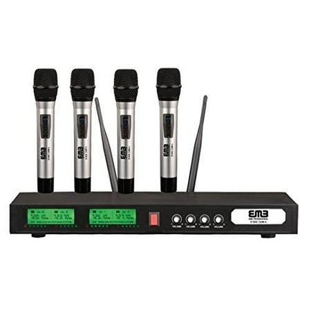 EMB PRO EMIC2400A UHF Professional Quad / 4x Wireless Microphone