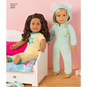 Simplicity One Size 18 American Girl Doll Clothes Pattern 1 Each