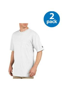 Big Men's Short Sleeve Heavy Weight Pocket T-Shirt, 2 Pack