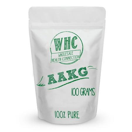 L-Arginine Alpha-cétoglutarate (AAKG) en poudre 100 g (40 Portions) | Energy Booster | Améliore la force | Booste l'oxyde nitrique