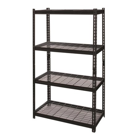 Hirsh Rivet Shelving 36x60 4 Shelf Wire Deck Storage -