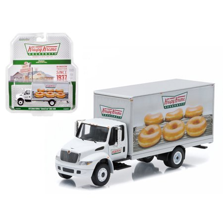 2013 International Durastar Box Van Krispy Kreme Donuts Delivery Truck HD Trucks Series 4 1/64 Diecast Model (International Navistar Trucks)