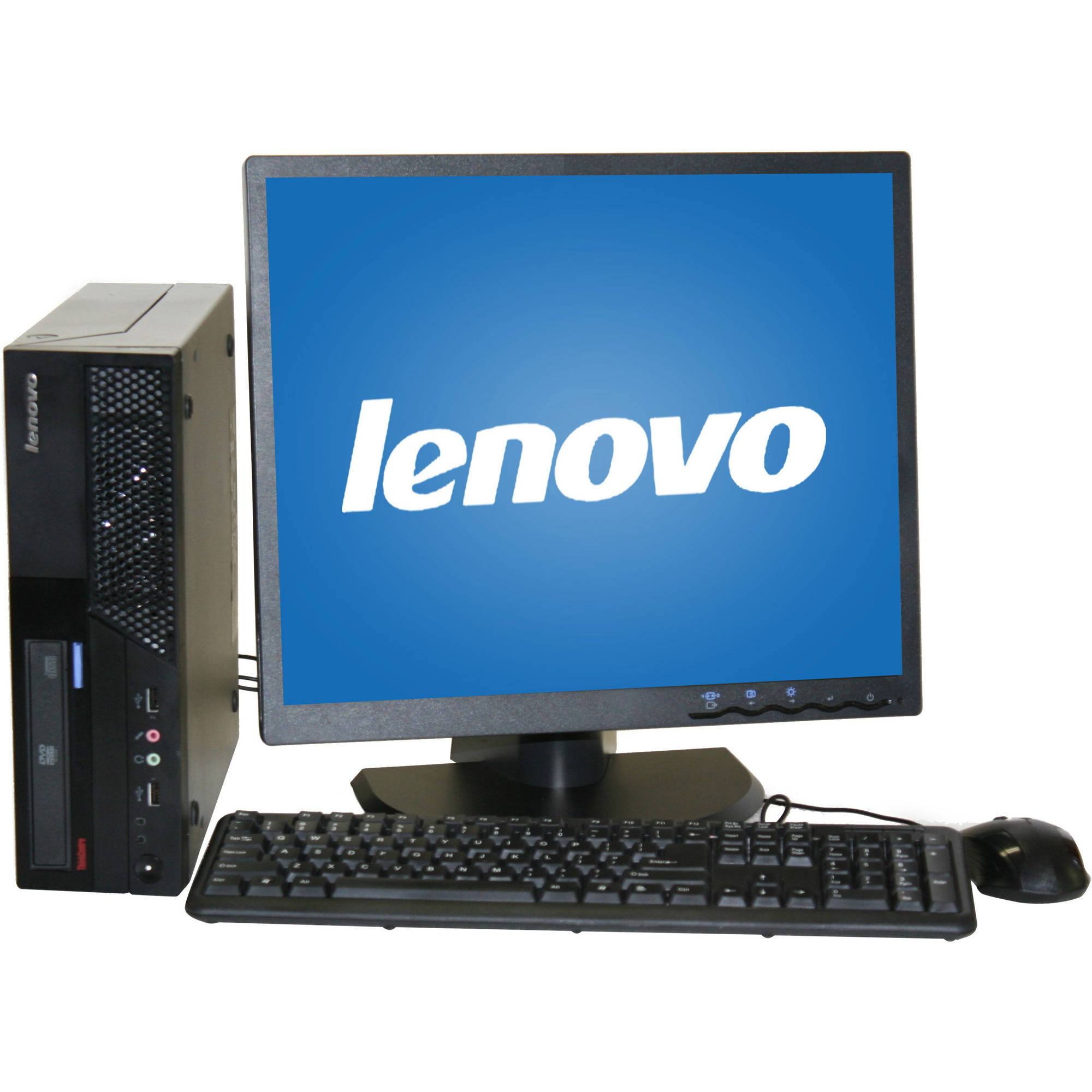 "Refurbished Lenovo M58 Desktop PC with Intel Core 2 Duo Processor, 4GB Memory, 19"" Monitor, 160GB Hard Drive and Windows 10 Home"