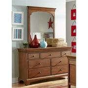 My Home Furnishings Neopolitan- Driftwood 1011-102201 7 Drawer Dresser & Beveled Vertical Mirror