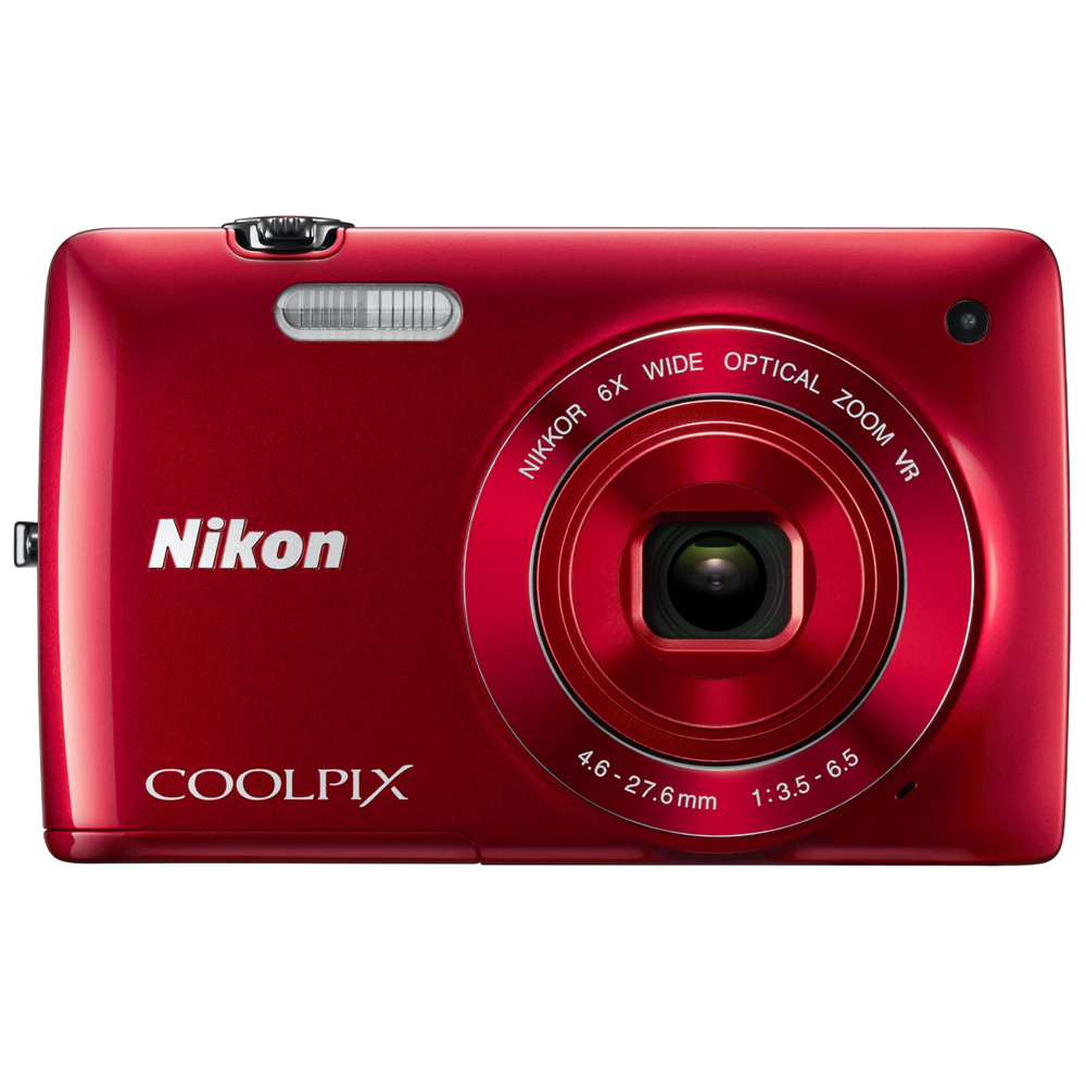 Nikon COOLPIX S4300 16MP Digital Camera with 3-inch Touchscreen - Red