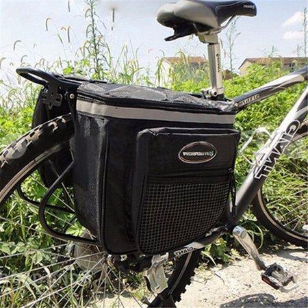 Bike Carrying Case - 5.28 GAL Waterproof Mountain Bike Rear Seat Tail Bag Pannier Carrier Cycling Bicycle Outdoor Double Zipper Luggage Case