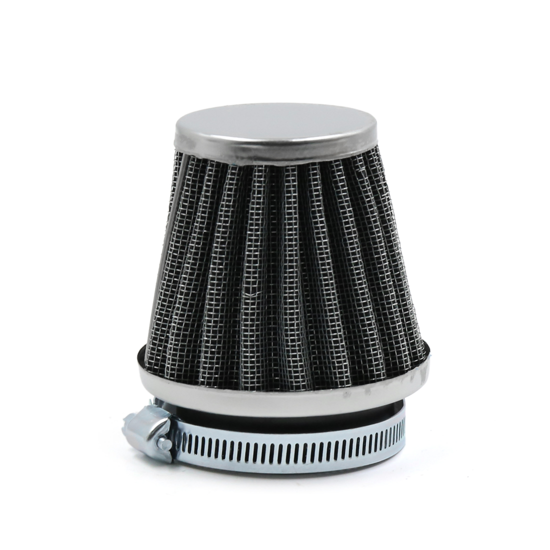 Black Universal Tapered 48mm Motorcycle Air Cleaner Intake Filter Cafe Racer