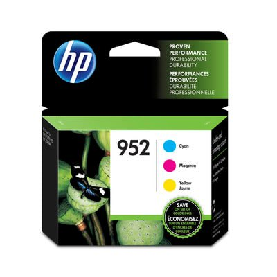 HP 952 3-pack Cyan/Magenta/Yellow Original Ink Cartridges ()