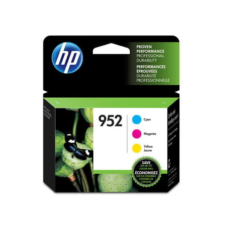 HP 952 | 3 Ink Cartridges | Cyan, Magenta, Yellow | L0S49AN, L0S52AN, L0S55AN 3 Ink Photo Black Cartridge