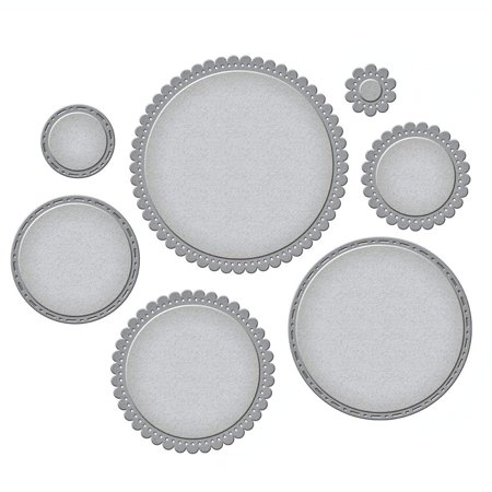 Fancy Thin (Nestabilities Fancy Edged Circles Etched/Wafer Thin Dies, Spellbinders die templates are perfect for cards, tags, scrapbooking and more By Spellbinders )