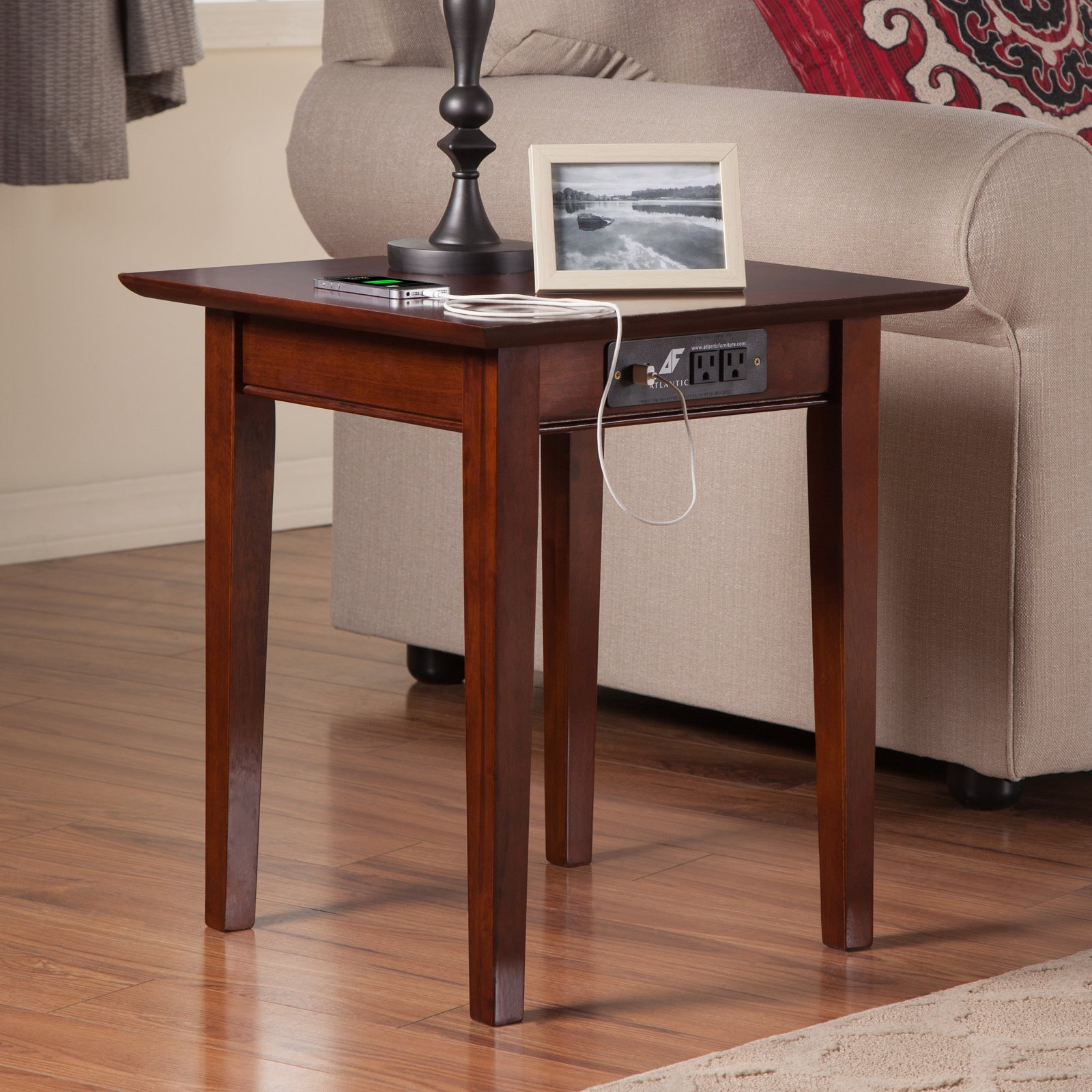 Merveilleux Atlantic Furniture Vienna End Table With Charging Station   Walmart.com