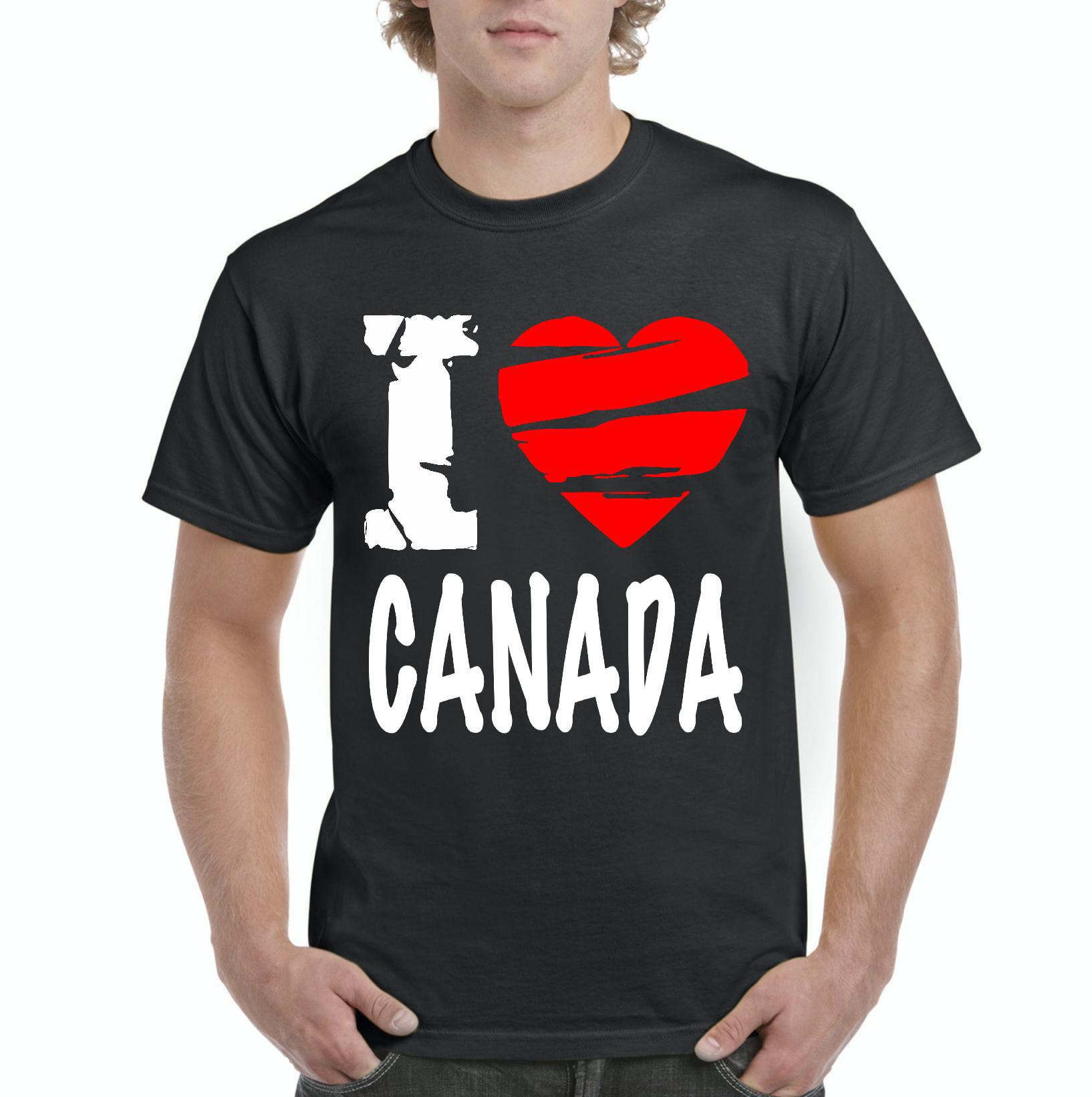 Canada T-Shirt I Love Canada Artix Men's T-Shirt Tee