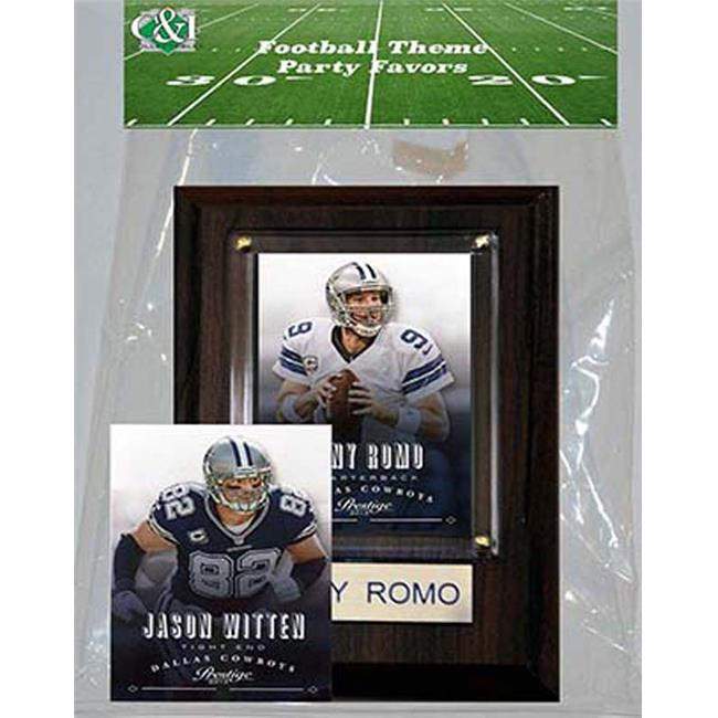 Candlcollectables 46LBCOWBOYS NFL Dallas Cowboys Party Favor With 4 x 6 Plaque