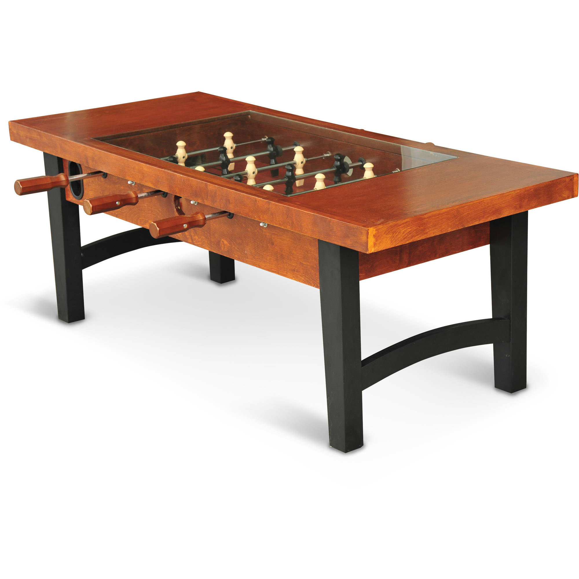 EastPoint Sports Coffee Table Soccer Game, Dark Wood