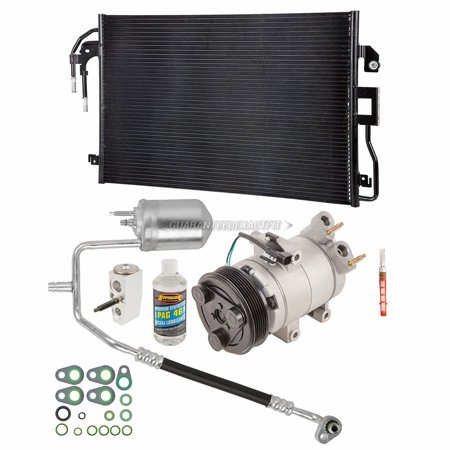 - AC Compressor Kit w/ A/C Condenser & Hoses For Ford Escape & Mercury Mariner