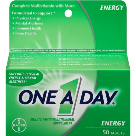 3 Pack   One A Day All Day Energy Tablets 50 Tablets