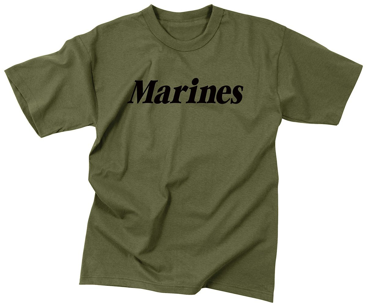 Rothco Olive Drab Military Physical Training T-Shirt - Marines, X-Large