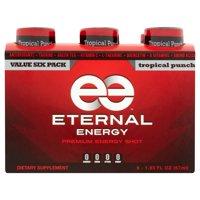 (12 Bottles) Eternal Energy Shot, Tropical Punch, 1.93 Fl Oz