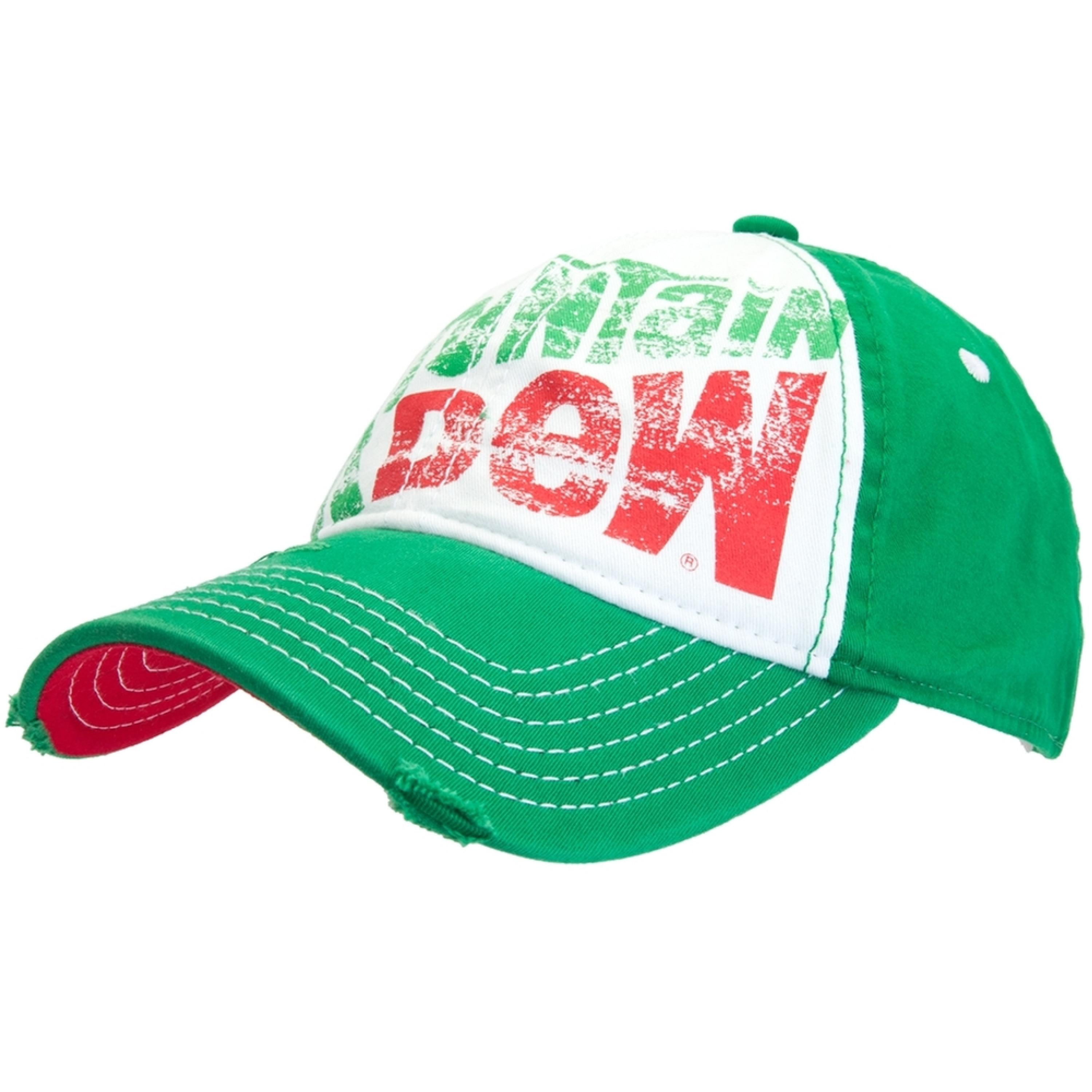 Mountain Dew - Large Distressed Logo Flex-Fit Cap